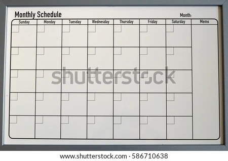 Magnetic Calendar Board Memo Can Be Stock Photo 586710638 - Shutterstock - board memo template