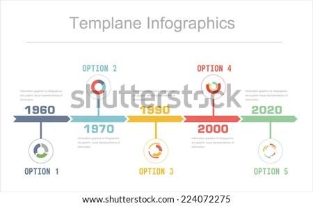 Business Timeline Infographics Vector Design Template Stock Photo - business timeline template