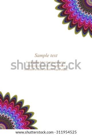 Color Page Corner Design Template Invitation Stock Vector 311954525