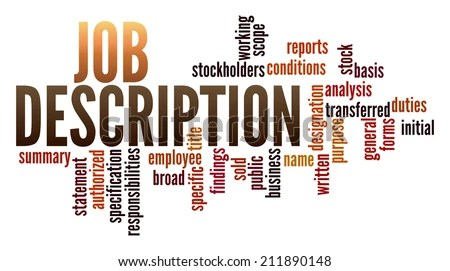 Job Description Word Collage Stock Illustration 211890148 - Shutterstock - Stock Job Description