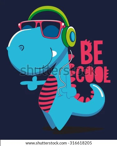 3d Printing Wallpaper Hd Cool Dinosaur Character Design Stock Vector 316618205