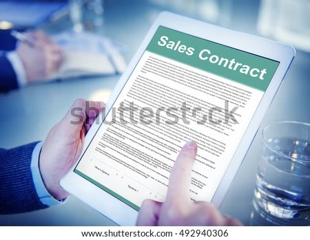 ... Sales Contract Stock Images, Royalty Free Images \ Vectors   What Is  The Concept ...