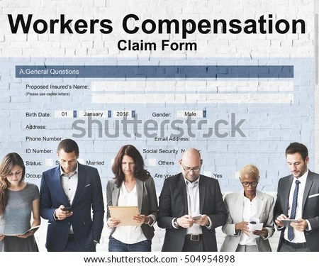 Workers Compensation Claim Form Insurance Concept Stock Photo (100 - worker compensation form