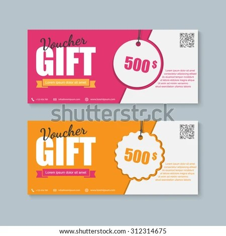 Voucher Gift Certificate Coupon Template Stock Vector 312314675 - coupon template