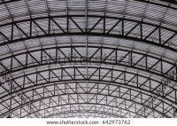Steel Pipe Truss Metal Sheet Roofing Stock Photo (Royalty ...