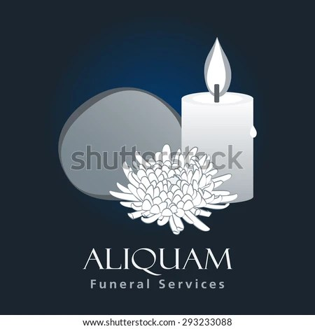 Funeral Services Business Sign Vector Template Stock Vector - invitation for funeral ceremony