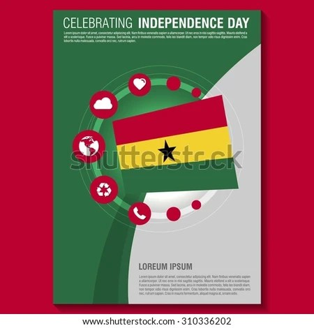 Vector Ghana Independence Day Flyer Template Stock Photo (Photo - independence day flyer