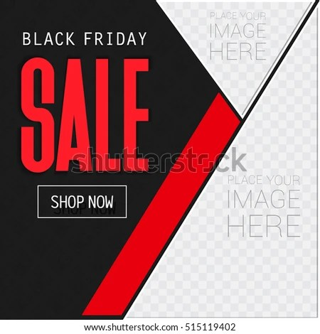 Black Friday Sale Ad Template Place Stock Vector 515119402