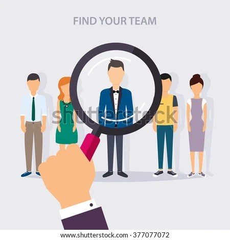 Job Search Career Human Resources Management Stock Vector 377077072 - how to find a head hunter