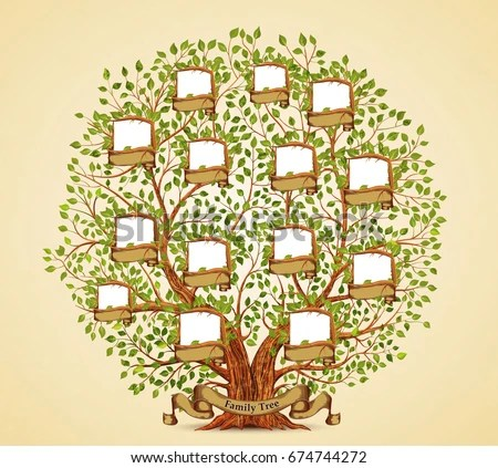 Family Tree Template Vintage Vector Illustration Stock Vector