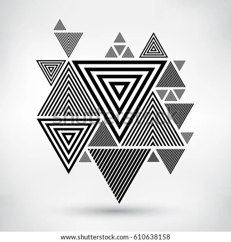 Vector Triangle Background Abstract Geometric Design Template Stock