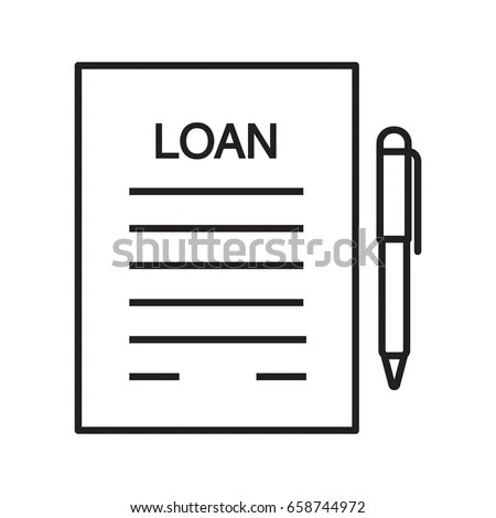 Loan Agreement Contract Linear Icon Mortgage Stock Vector HD