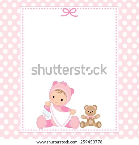 Baby Girl Shower Invitation Card Stock Vector 259453778 - Shutterstock - baby girl invitation