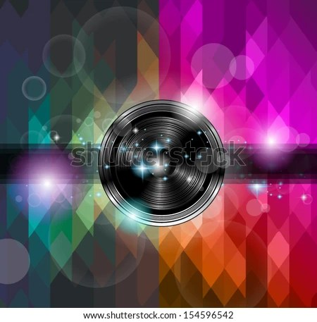Disco Club Flyer Template Abstract Background Stock Photo (Photo - club flyer background