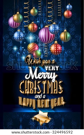 Christmas Party Flyer Music Night Events Stock Illustration