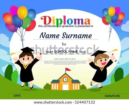 Certificates Kindergarten Elementary School Diploma Certificate