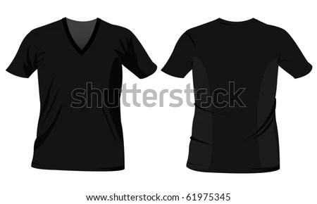 Blank T Shirt Template Black Tshirt Imagem Vetorial De Banco - t shirt template