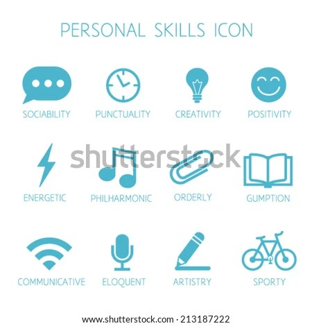 Personal Skills Icon Self Characteristic Vector Stock Vector - soft skills on resume