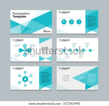 Abstract Vector Business Presentation Template Slides Stock Vector