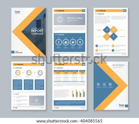 Company Profile Annual Report Brochure Fl Stock Vector 404085565