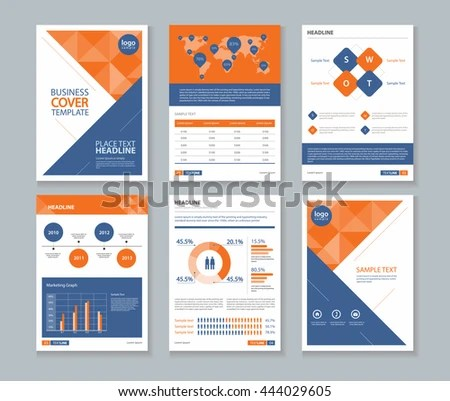 Page Company Profile Annual Report Layout Stock Vector 444029605 - company profile
