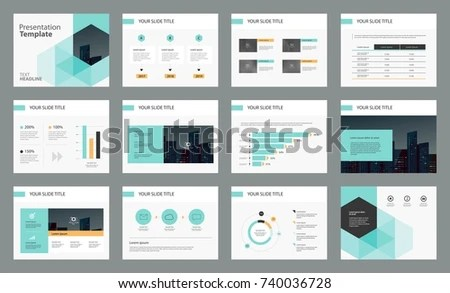 Page Design Business Presentation Template Report Stock Vector HD