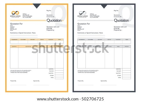 Design Quotation Sample 86 Best Quotation I Invoice I Proposal - sample invoice quotation