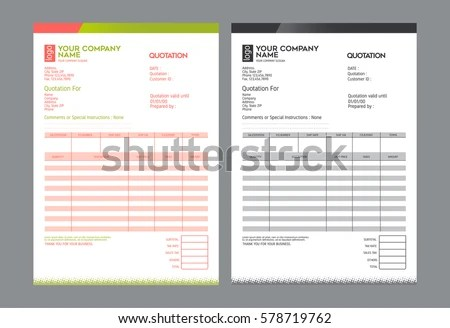 Invoice Template Stock Images, Royalty-Free Images \ Vectors - sample invoice quotation