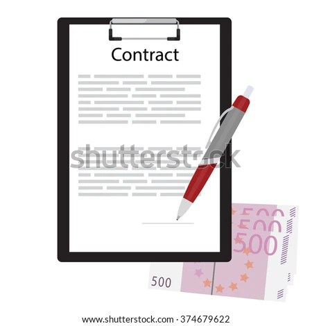 Business Contract Concept Contract On Clipboard Stock Vector HD