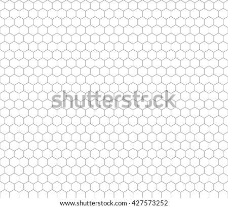 Hexagon Graph Paper - Design Templates - hexagonal graph paper template