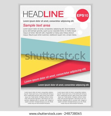Creative Brochure Template Design Abstract Vector Stock Photo (Photo - pamphlet layout template