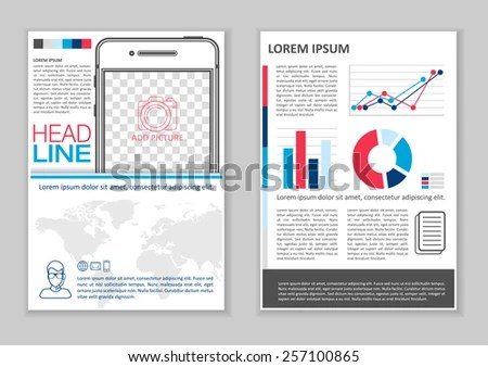 Brochure Template Design Infographic Elements Charts Stock Vector - phamplet template