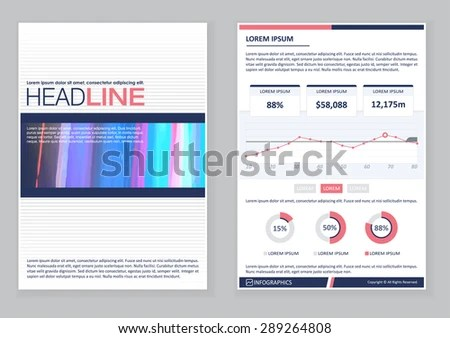 Creative Brochure Template Design Infographic Chart Stock Photo - pamphlet layout template