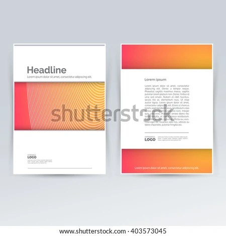 Brochure Design Template Advertising Creative Leaflet Stock Photo - pamphlet layout template