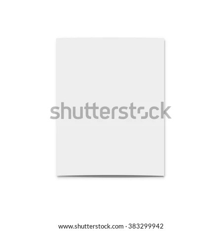 Realistic Blank Card Design Template Greeting Stock Vector - blank card template