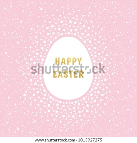 Happy Easter Greeting Card Template Gold Stock Photo (Photo, Vector