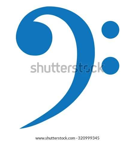 Bass Clef Stock Vector 320999345 - Shutterstock - base cleff