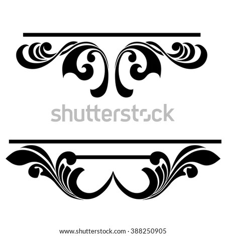 Vintage Baroque Frame Scroll Ornament Engraving Stock Illustration - baroque scroll designs