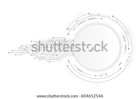 illustration of futuristic 3d circuit board 23408791 shutterstock
