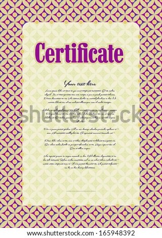 Basis Creating Certificate Diploma Gift Voucher Stock Vector - creating a voucher