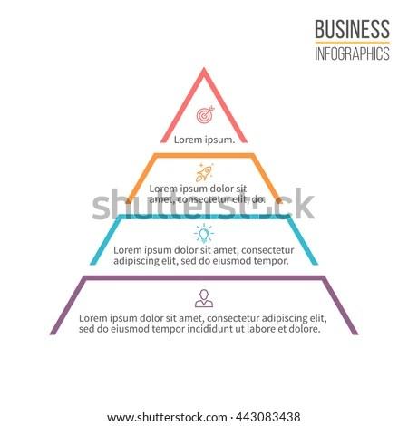 Pyramid Infographics Minimalistic Diagram Chart 4 Stock Photo (Photo