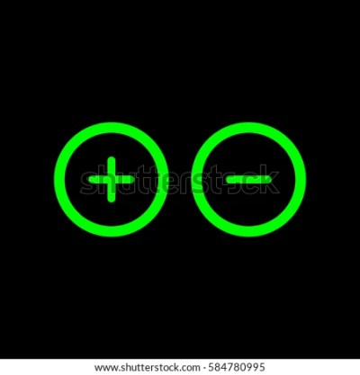 Plus Minus Sign Circle Icon Zoom Stock Vector 584780995 - Shutterstock