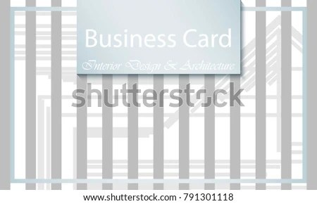 Business Card Interior Design Architecture Abstract Stock Vector