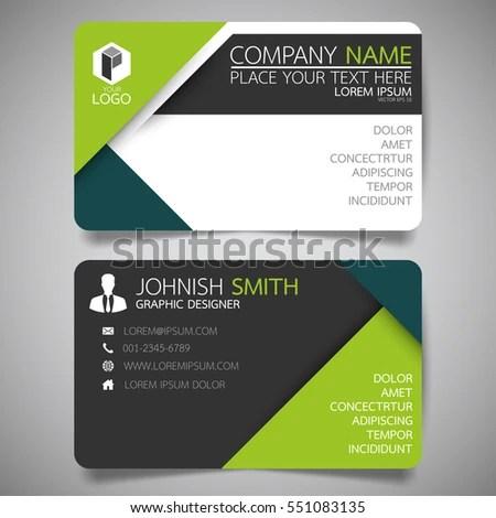 Green Modern Creative Business Card Name Stock Vector 551083135 - name card