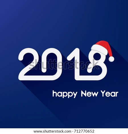 Happy New Year 2018 Text Lettering Stock Vector 712770652 - Shutterstock