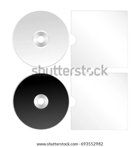 Cd Dvd Isolated Realistic Icon Compact Stock Illustration 693552982