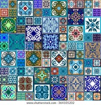 Ceramic Tiles Flooring Seamless Pattern Moroccan Stock ...
