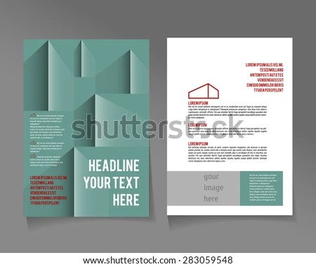 Editable Corporate Identity A 4 Poster Template Stock Vector - editable poster templates