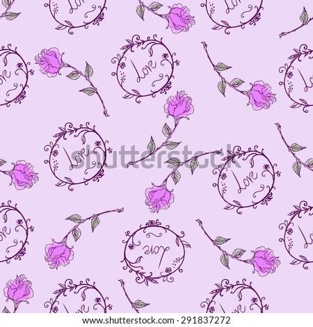 Pattern Rose Frames Word Love Stock Vector 291837272 - Shutterstock - word design frames