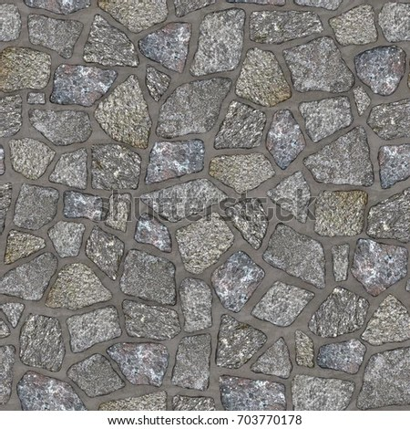 Computer Generated Texture Stone Masonry Wall Stock Illustration